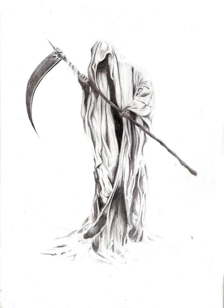 Pencil Drawings Of Grim Reaper Traffic Club