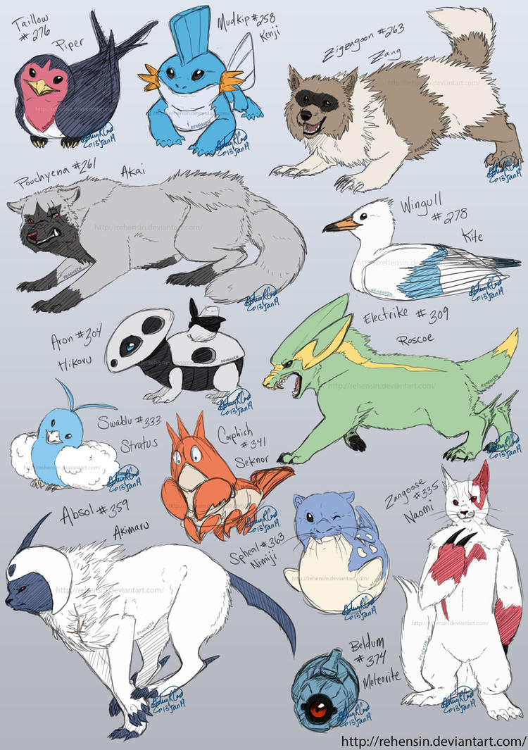 pokemon favorites hoenn region by rehensin on deviantart