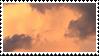 golden clouds stamp