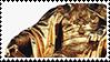 golden statue aesthetic stamp by monsterkitties
