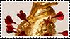 golden heart aesthetic stamp by monsterkitties