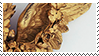 golden wing aesthetic stamp by monsterkitties