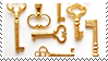 golden keys aesthetic stamp by monsterkitties