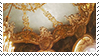 gold victorian ceiling aesthetic stamp by monsterkitties