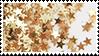 golden stars aesthetic stamp