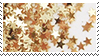 golden stars aesthetic stamp by monsterkitties