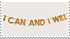 i can and i will aesthetic stamp
