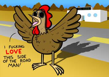 Request: A chicken on pills by Bortonium