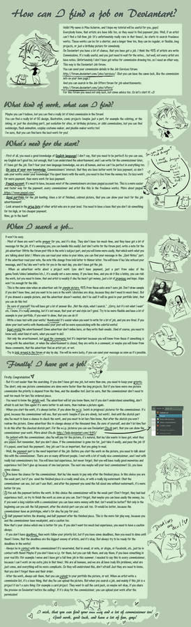 How can I find a job on Deviantart