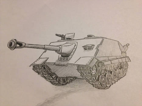 Tank Destroyer (pencil drawing)