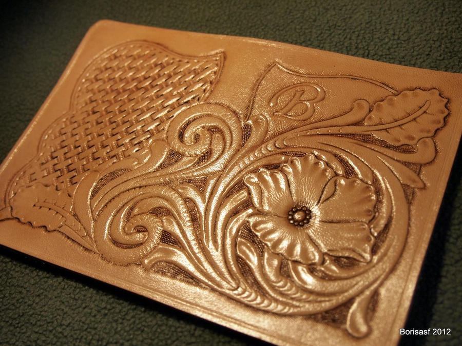Leather craft card holder by borpan on deviantart for Leather sheets for crafting