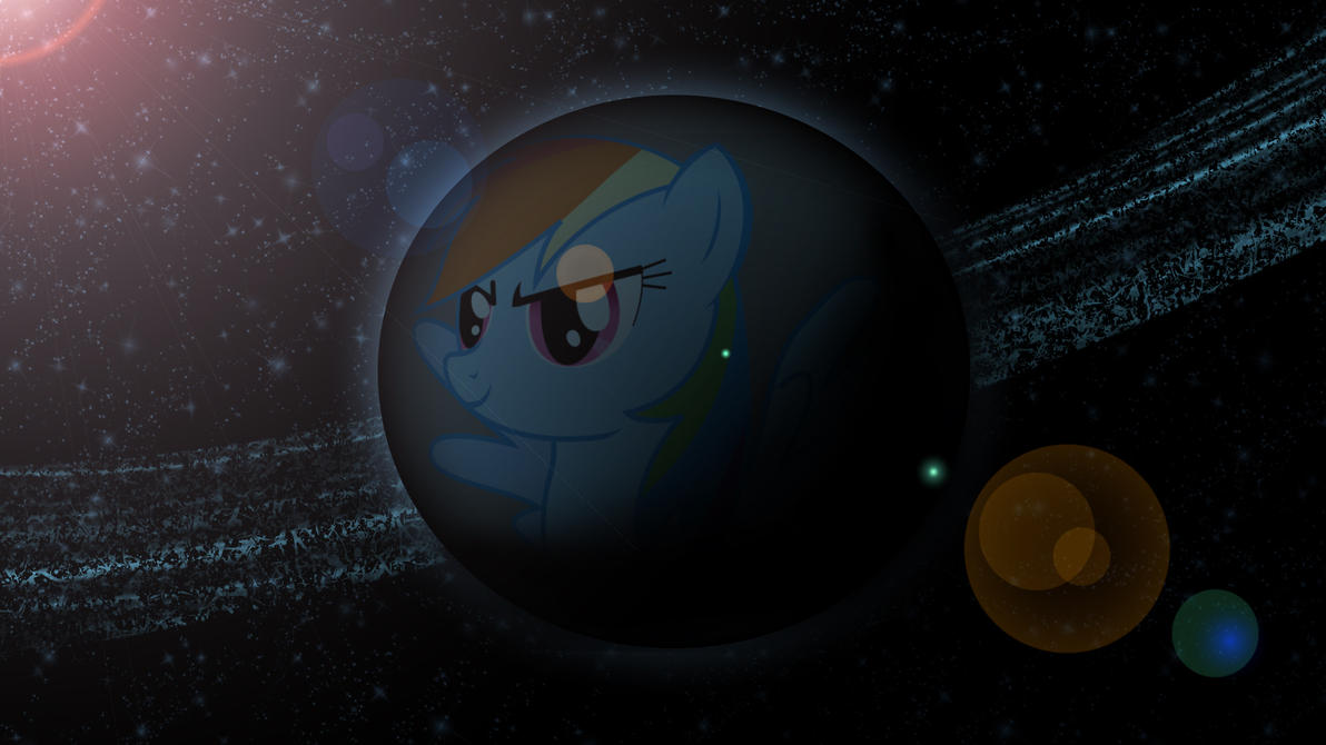 Planet Rainbow Dash by Hardii