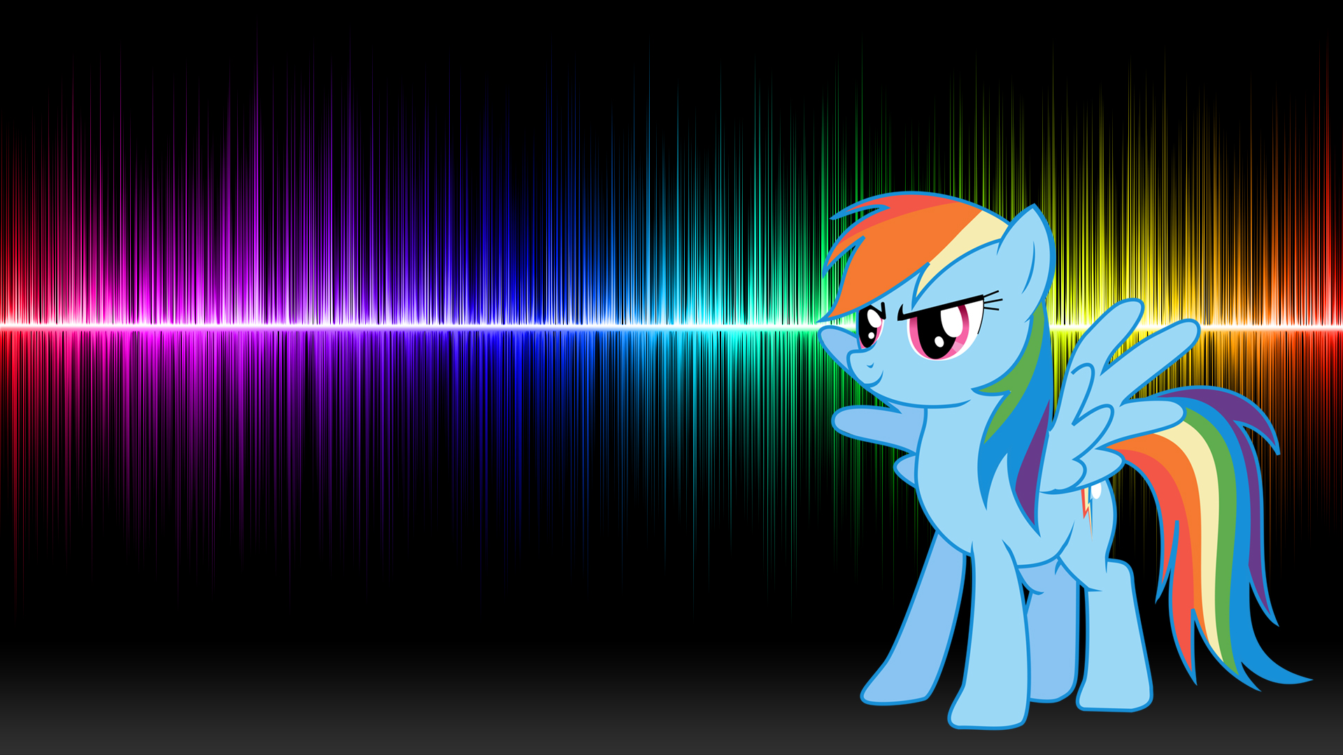 Rainbow Dash 20% cooler! (Wallpaper) by Hardii