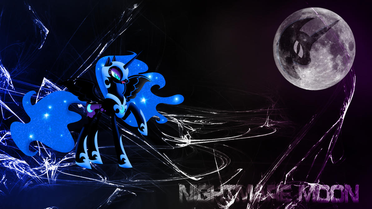 Nightmare Moon (Wallpaper) by Hardii