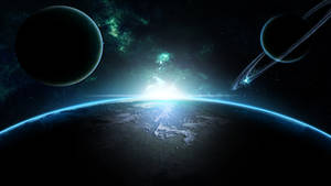 Planet's and Earth (Wallpaper)