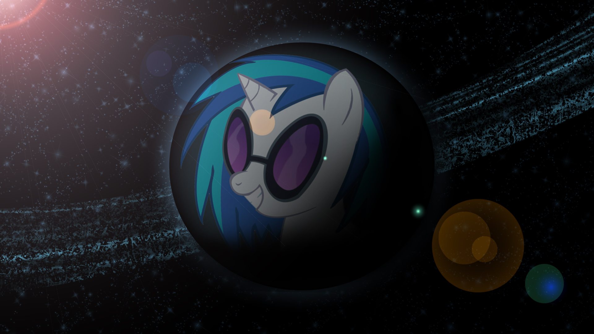 Planet Vinyl Scratch! (Wallpaper) by Hardii