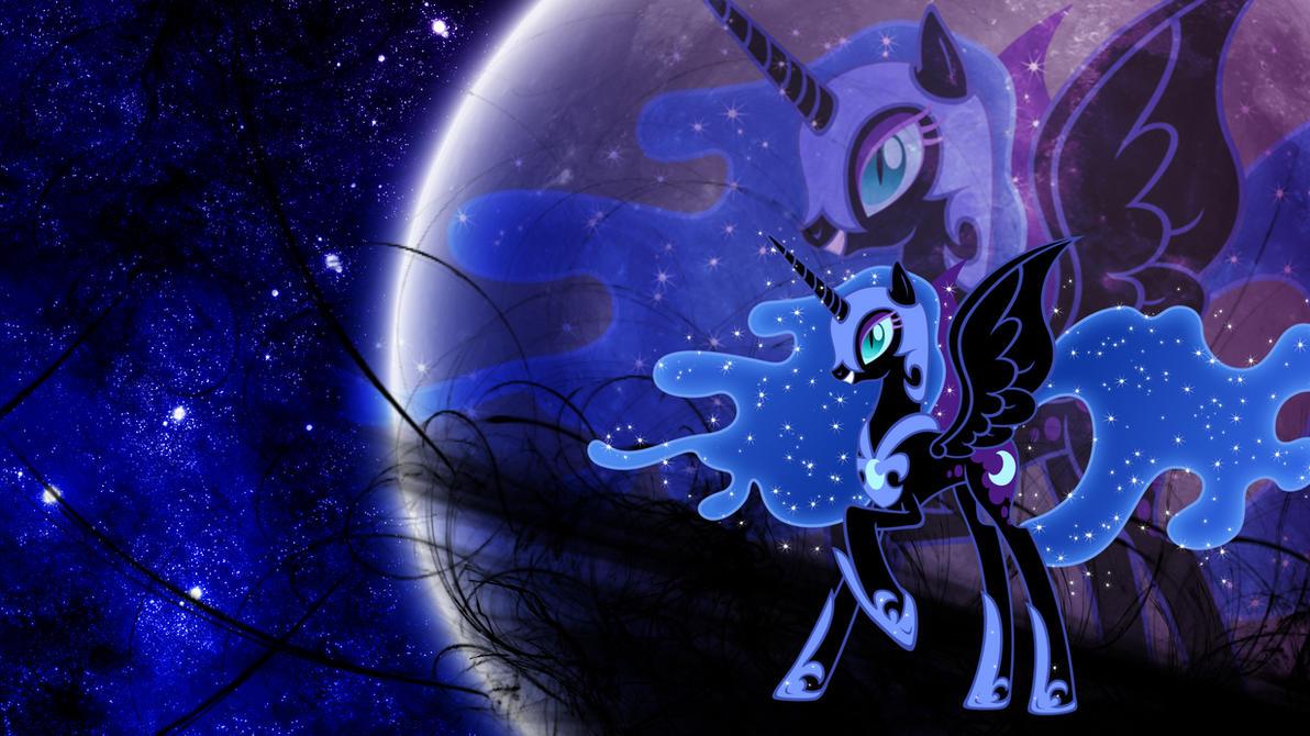 Nightmare Moon 3 (Wallpaper) by Hardii
