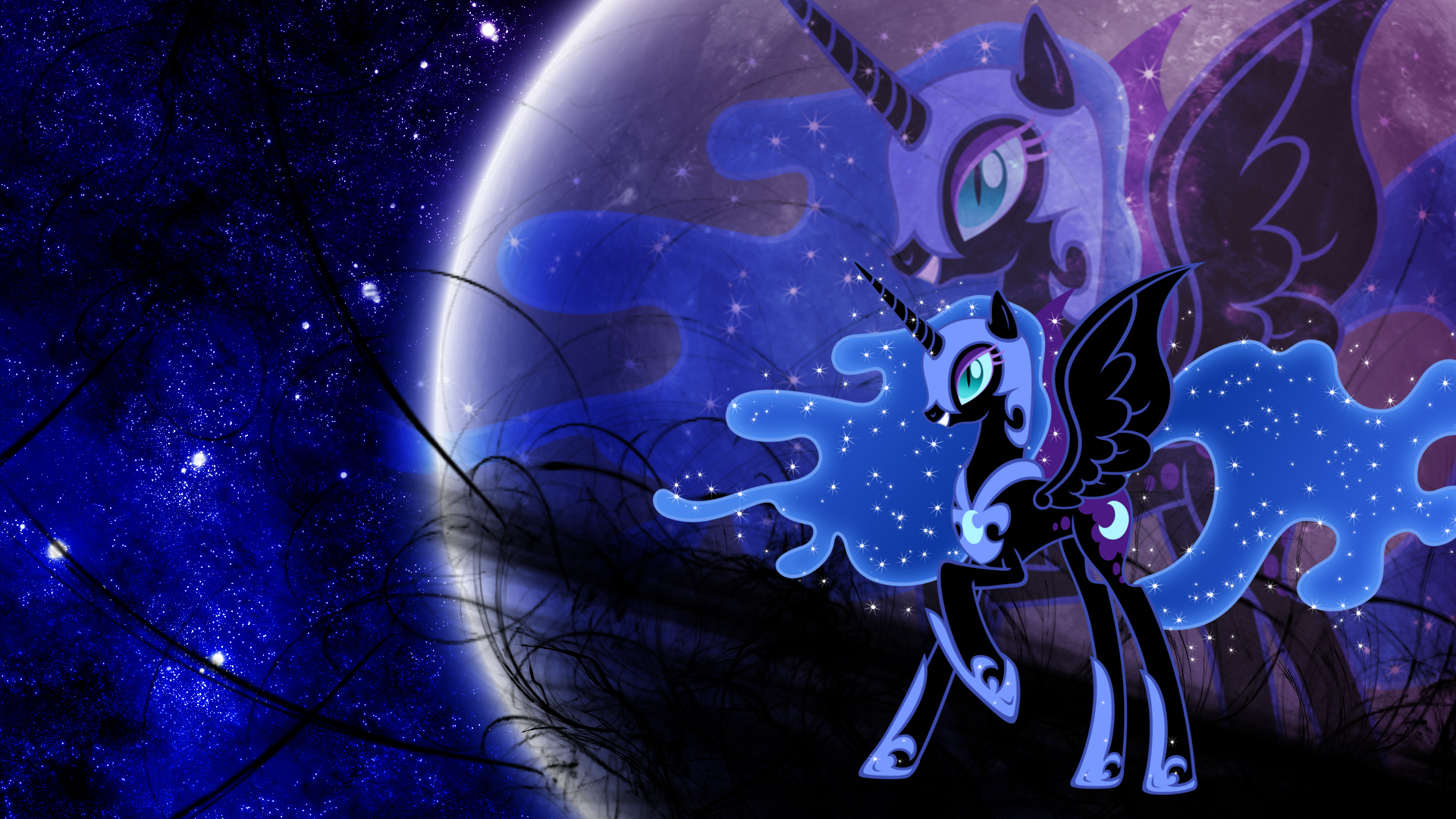 Nightmare Moon 3 (Wallpaper) by Hardii