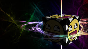 Awesomesmiley Cube (Wallpaper)