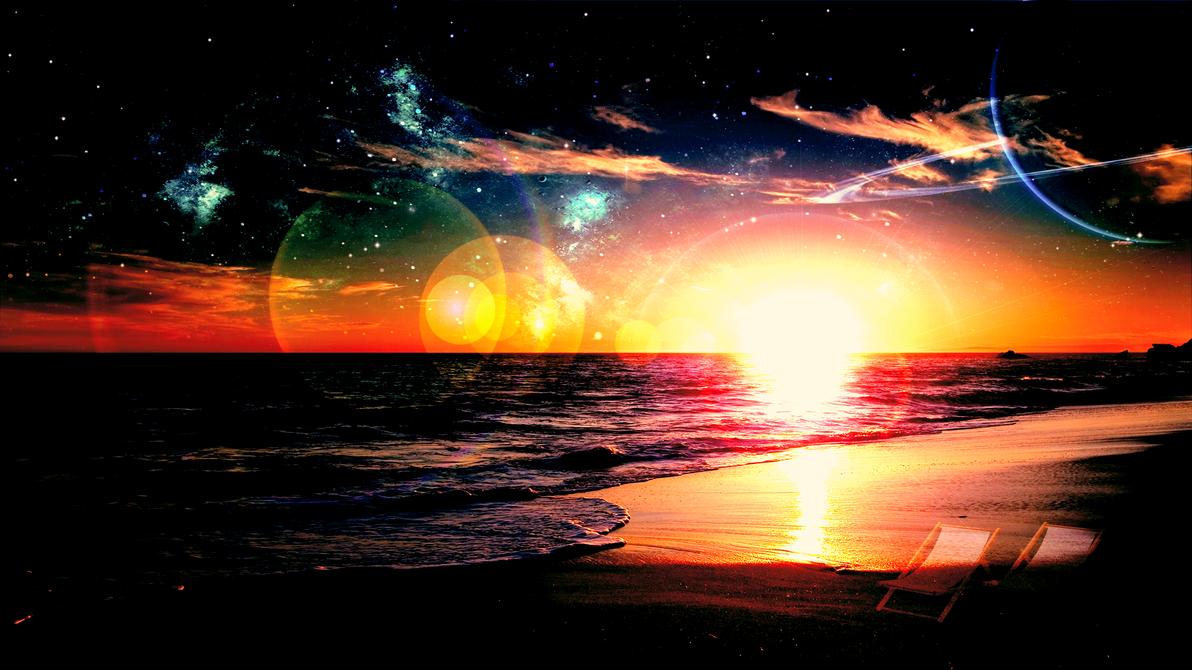 Beach (Wallpaper) by Hardii