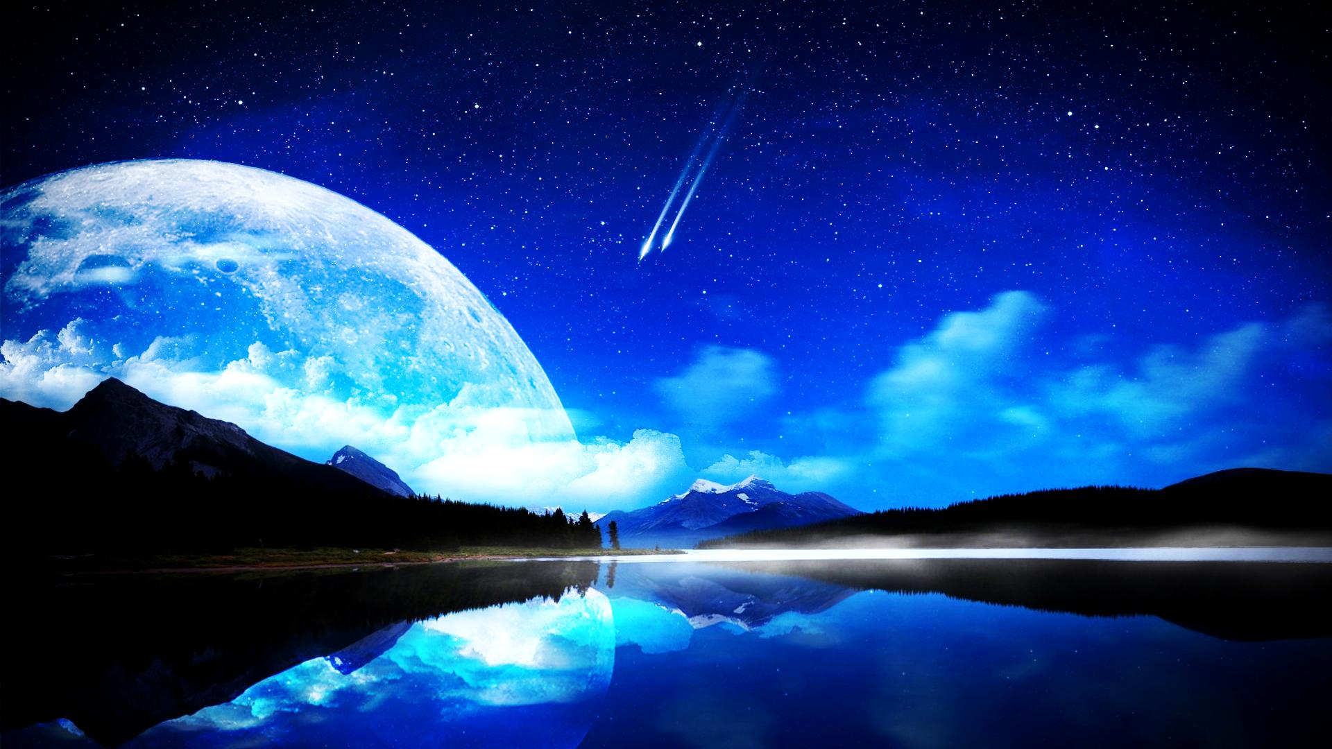 crescent moon (~raven9000111 request)(wallpaper)hardii on