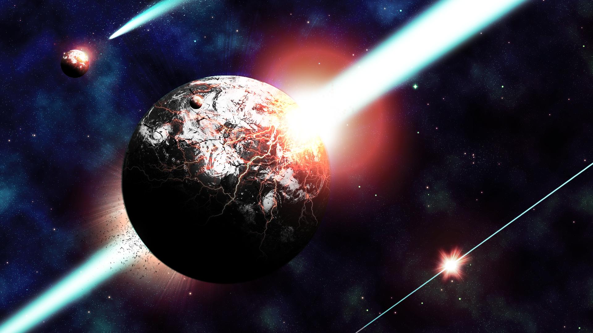 Destroying Worlds (Wallpaper) by Hardii