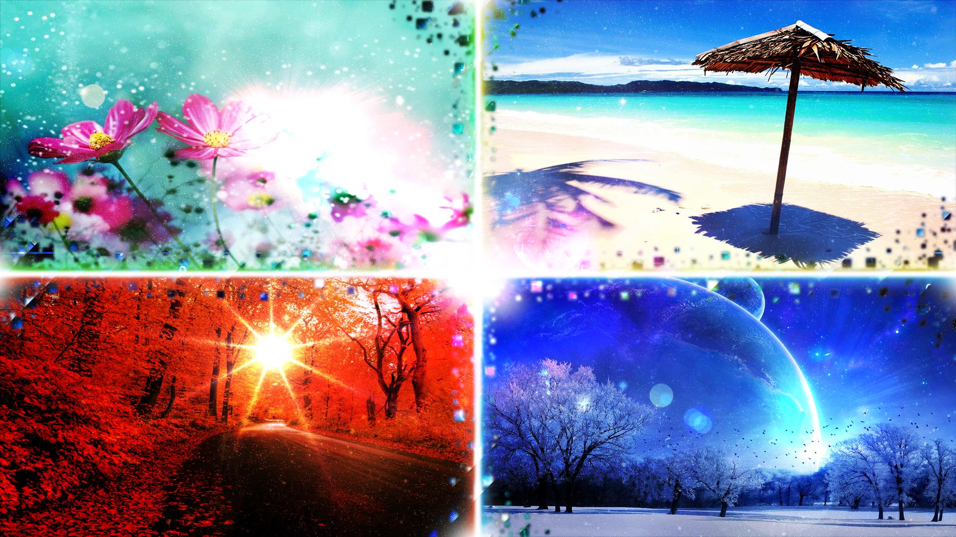 4 seasons wallpaper and edit by hardii on deviantart