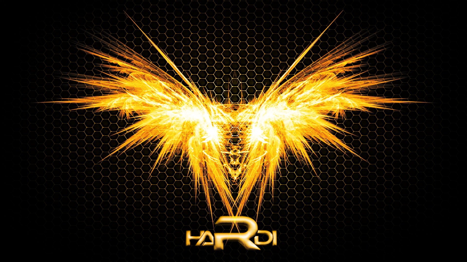 Hardi's Logo on fire! (Wallpaper)(With font) by Hardii