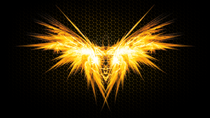 Hardi's Logo on fire! (Wallpaper)(Without font)