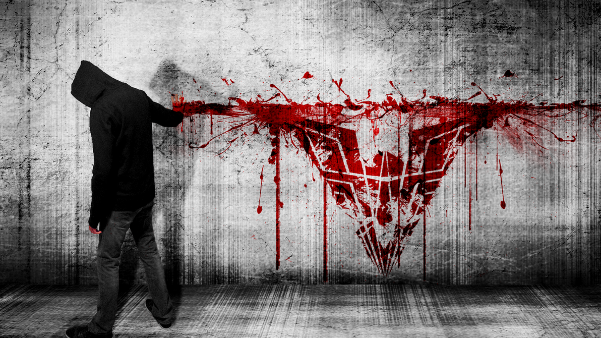 Hardii and his Logo (In Blood and Sinister style) by Hardii
