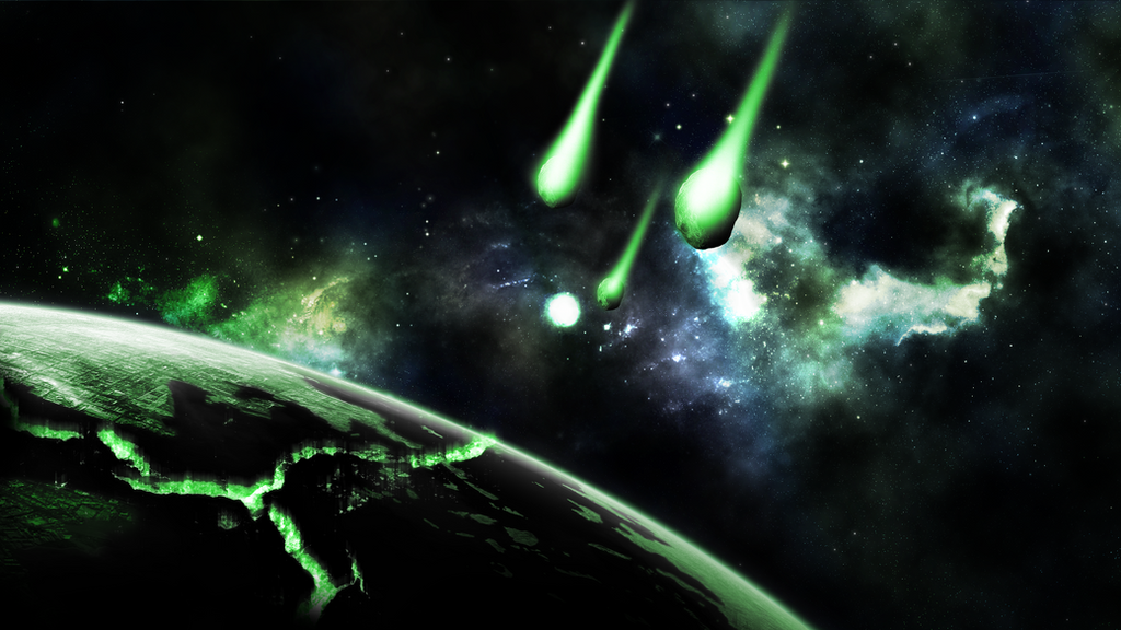 Green And Deep Space Wallpaper By Hardii