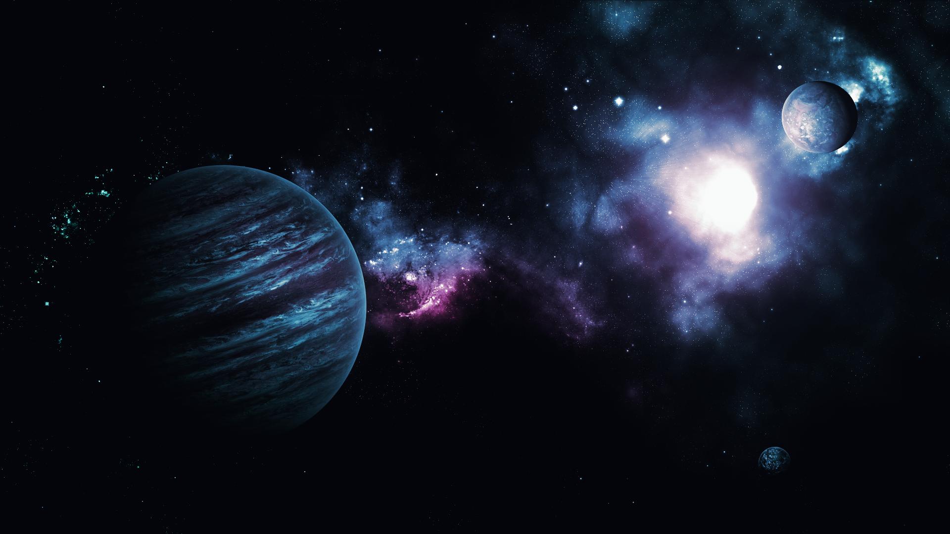 3 Planets so far (Wallpaper) by Hardii