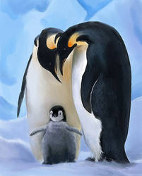 Penguin Family by OrganicSculpture