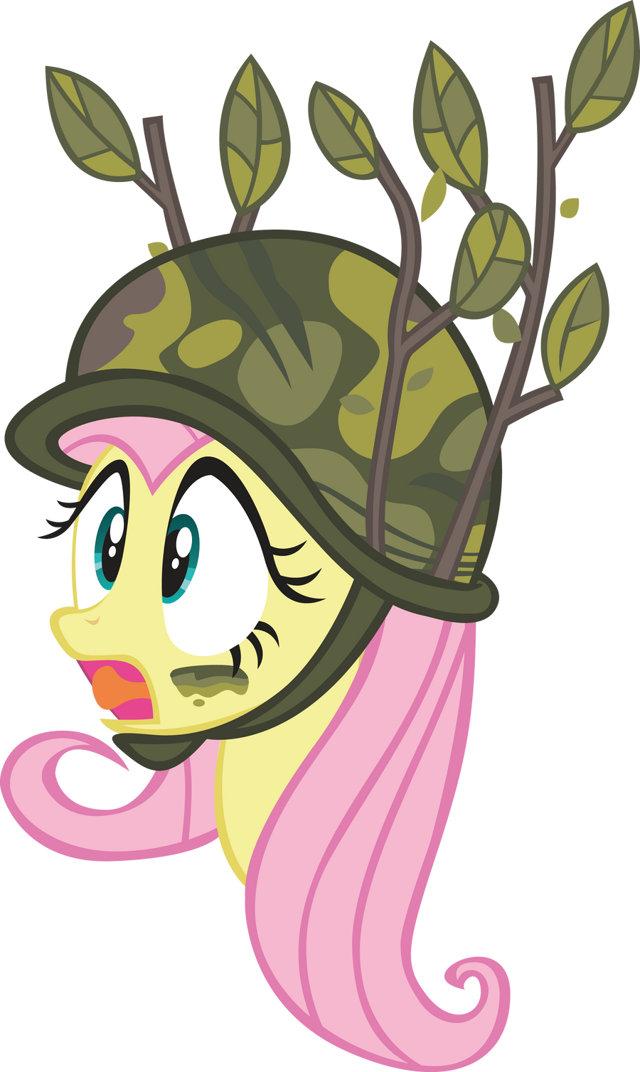 Military Fluttershy by Ingkala