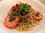 Prawn Spaghetti by nosugarjustanger