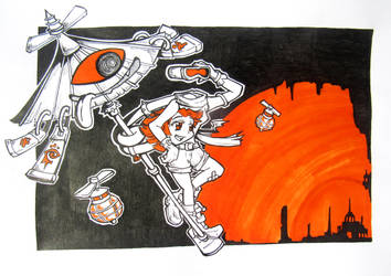 31 Yokais // Karakasa And Rokurokubi by GaddTheThief