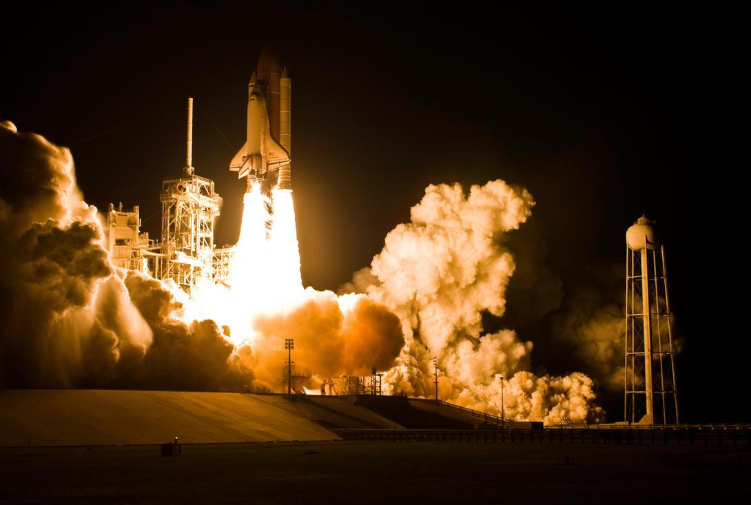 space shuttle landing at night - photo #10