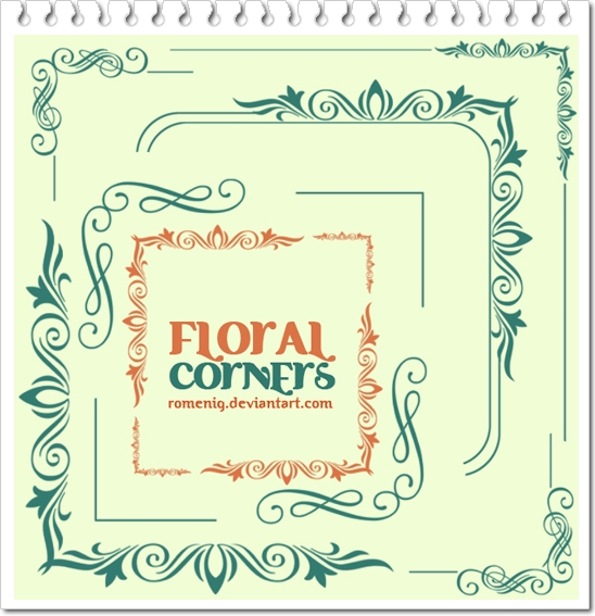 Floral Corners brushes