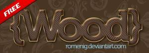 Wood Photoshop Layer Style by Romenig