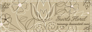 Swirls Floral Brushes