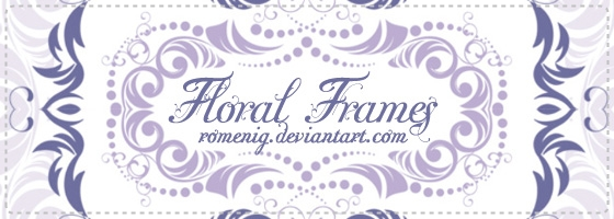 Floral Frames Brushes by Romenig