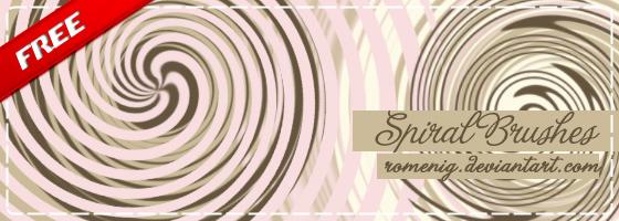 Spiral Photoshop Brushes by Romenig