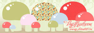 Cute Mushroom Png set by Romenig