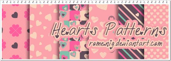 Playful Hearts Patterns By Mysticemma On Deviantart