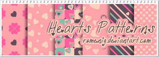 Hearts Photoshop Patterns by Romenig