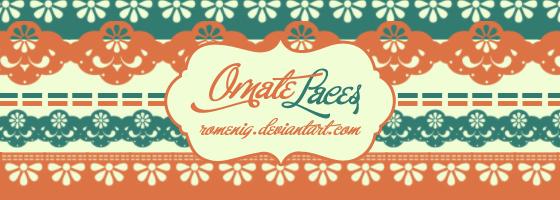 Ornate Laces Brushes by Romenig