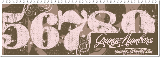 Grunge Numbers Brushes by Romenig