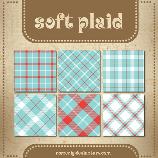Soft Plaid Patterns by Romenig