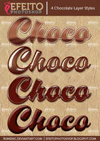 4 Free Chocolate Layer Styles by Romenig