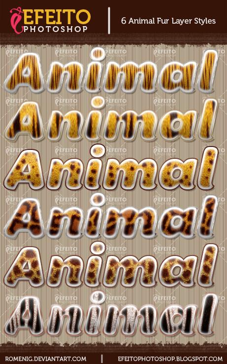 6 Animal Fur Layer Styles by Romenig